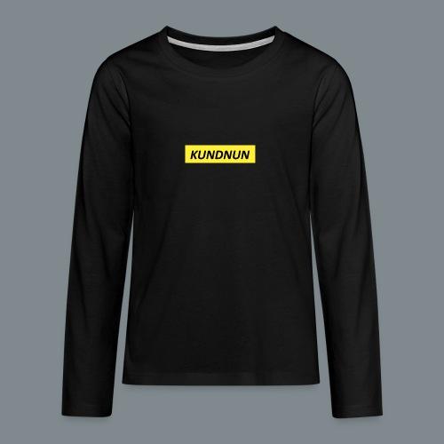 Kundnun official - Teenager Premium shirt met lange mouwen