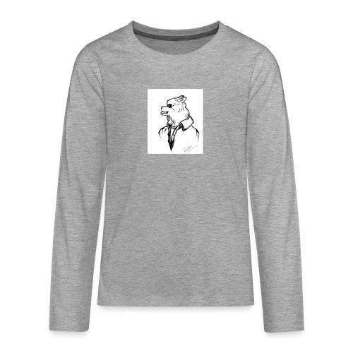 InkedThe Dog style bak LI - Camiseta de manga larga premium adolescente