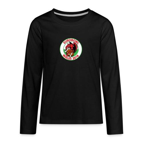 Eurobowl Wales 2018 - Teenagers' Premium Longsleeve Shirt