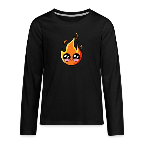 Kawaii Fire - T-shirt manches longues Premium Ado