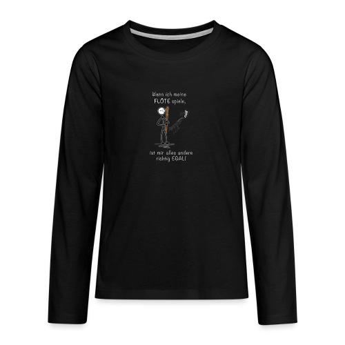 Recorder Love f. dark colours - Teenagers' Premium Longsleeve Shirt