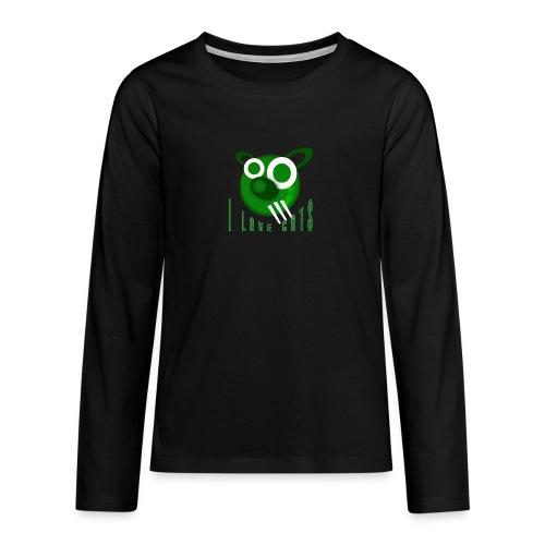 I Love Cats - Teenagers' Premium Longsleeve Shirt