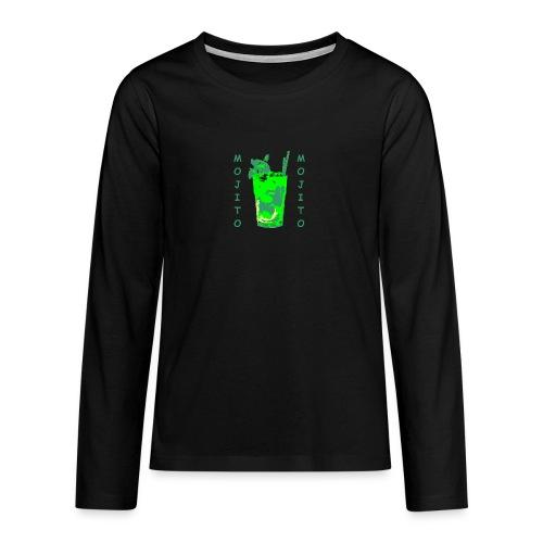 Mojito bicchiere colorato - Maglietta Premium a manica lunga per teenager