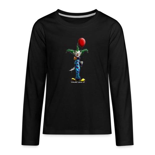 klaun tee - Långärmad premium T-shirt tonåring