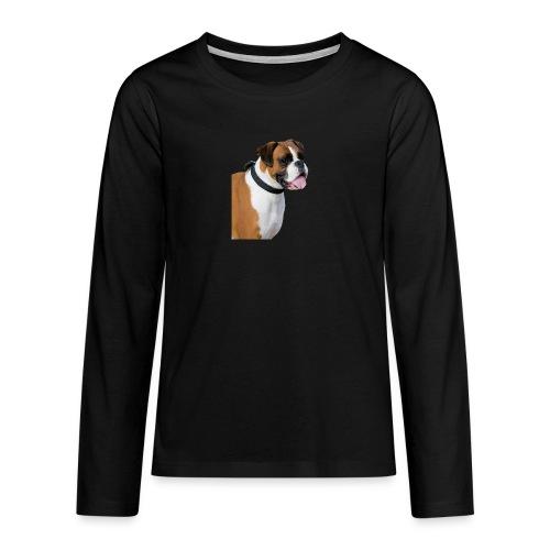 boxer hund png isolated boxer dog animal portrait - Långärmad premium T-shirt tonåring