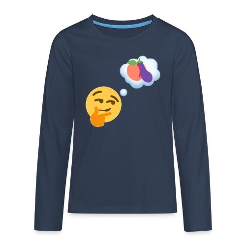 Johtaja98 Emoji - Teinien premium pitkähihainen t-paita