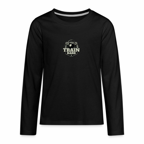 Train Hard - Teenager Premium Langarmshirt