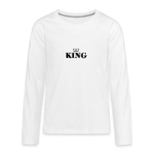 King - Teenager Premium Langarmshirt