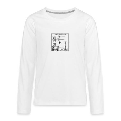W.O.T War tactic, tank shot - Teenagers' Premium Longsleeve Shirt