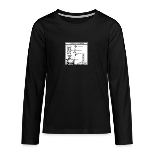 W.O.T War tactic, tank shot - Teenagers' Premium Longsleeve Shirt