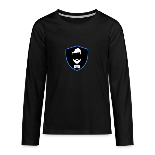 Kalzifertv-logo - Teenager premium T-shirt med lange ærmer