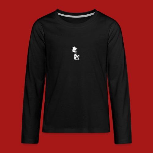 CuteBaby Giraf - Teenager premium T-shirt med lange ærmer
