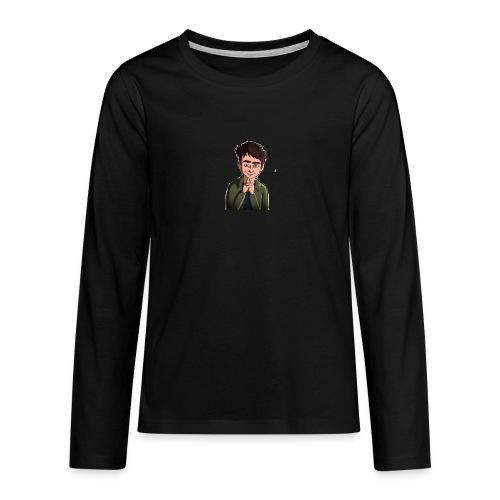 Turtle Vibez Logo - Teenagers' Premium Longsleeve Shirt