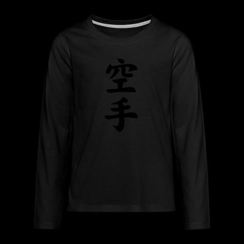 karate - Koszulka Premium z długim rękawem dla nastolatków