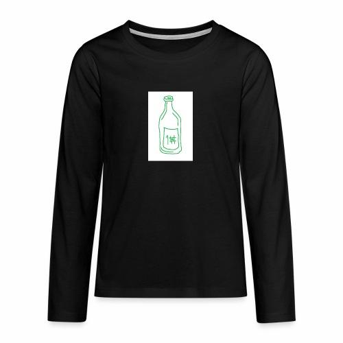 Alkoholi - Teinien premium pitkähihainen t-paita