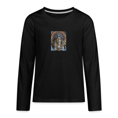 jefe indio - Camiseta de manga larga premium adolescente