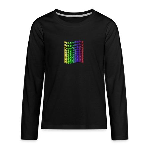 Freerunning Rainbow - Teenager premium T-shirt med lange ærmer