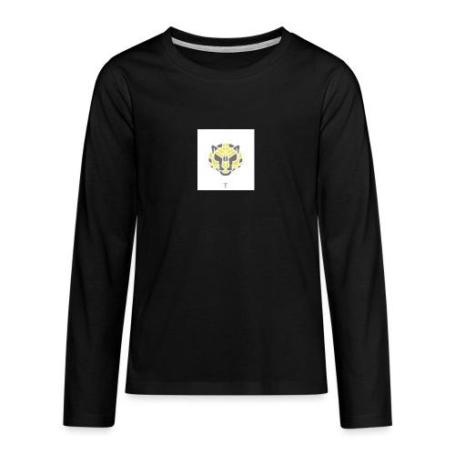 Tiger fra jungle - Teenager premium T-shirt med lange ærmer