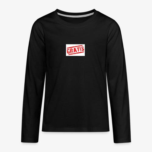 verkopenmetgratis - Teenager Premium shirt met lange mouwen