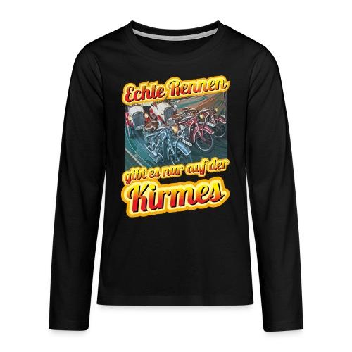 Echte Rennen gibt es nur auf der Kirmes! - Teenager Premium Langarmshirt