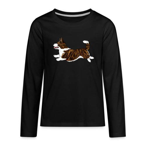 Welshcorgi7 - Teinien premium pitkähihainen t-paita
