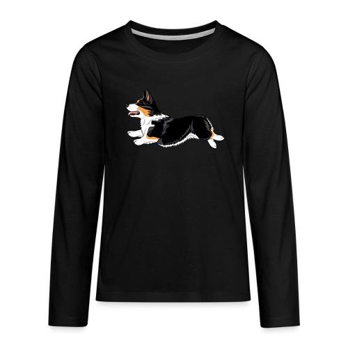 Welshcorgi2 - Teinien premium pitkähihainen t-paita