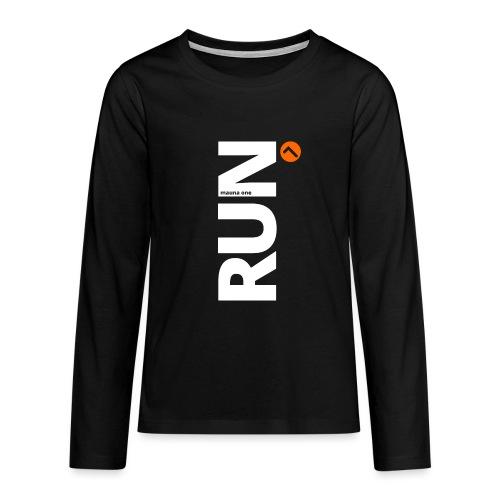 RUN mauna one orange, Geschnekidee, Geschenk - Teenager Premium Langarmshirt