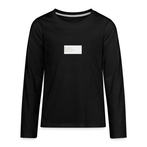 code - T-shirt manches longues Premium Ado