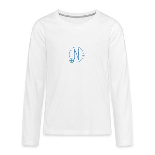 Logo1 blau - Teenager Premium Langarmshirt