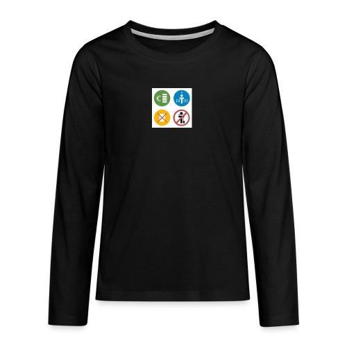 4kriteria obi vierkant - Teenager Premium shirt met lange mouwen