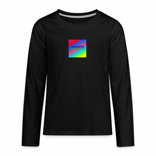 Lukas Minecraft Navn - Teenager premium T-shirt med lange ærmer