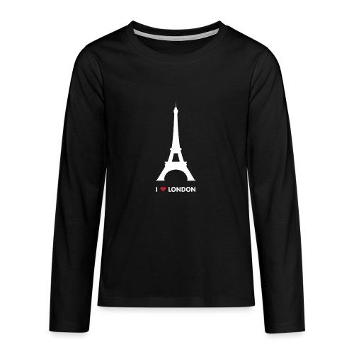 I love London - Teenager Premium shirt met lange mouwen