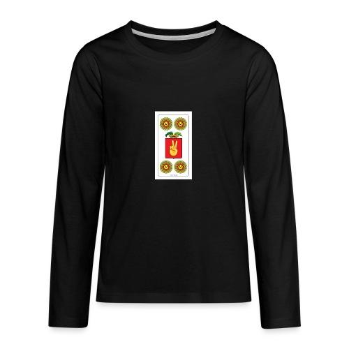 Piacentine Quattro Di Denari Con Smile - Maglietta Premium a manica lunga per teenager