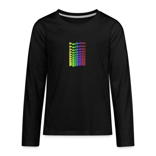 Parkour rainbow - Teenager premium T-shirt med lange ærmer