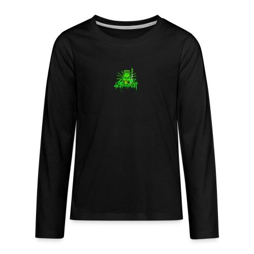GFSkullOnlyColorShirt - Teenagers' Premium Longsleeve Shirt