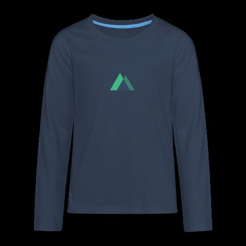 Mountain Logo - Teenagers' Premium Longsleeve Shirt