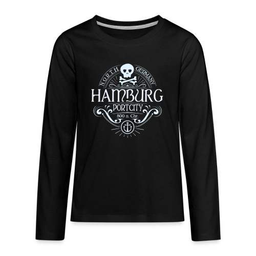 Hamburg Hafenstadt - Teenager Premium Langarmshirt