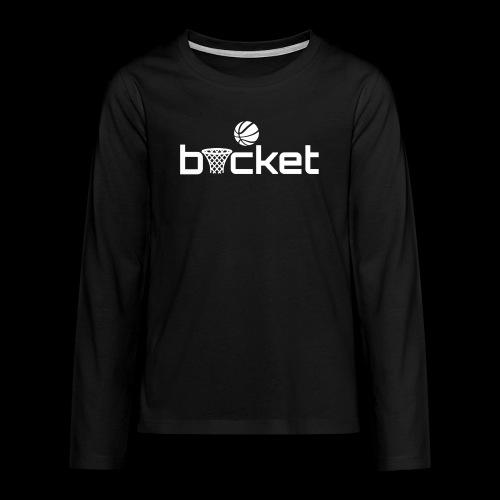 bucket white png - Teenagers' Premium Longsleeve Shirt
