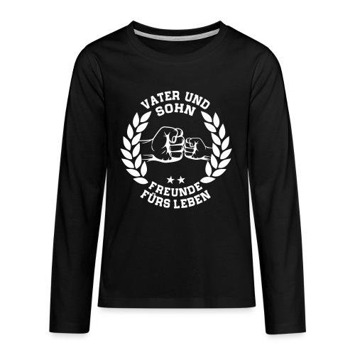 Vater und Sohn Freunde fürs Leben - Lorbeerkranz - Teenager Premium Langarmshirt