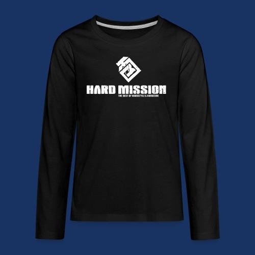 HARD MISSION LOGO Weiß - Teenager Premium Langarmshirt