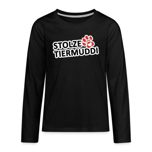 stolzetiermuddi png - Teenager Premium Langarmshirt