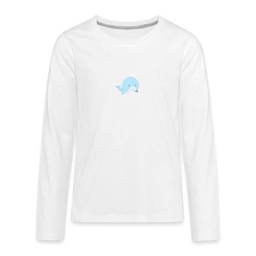 Whale - Maglietta Premium a manica lunga per teenager