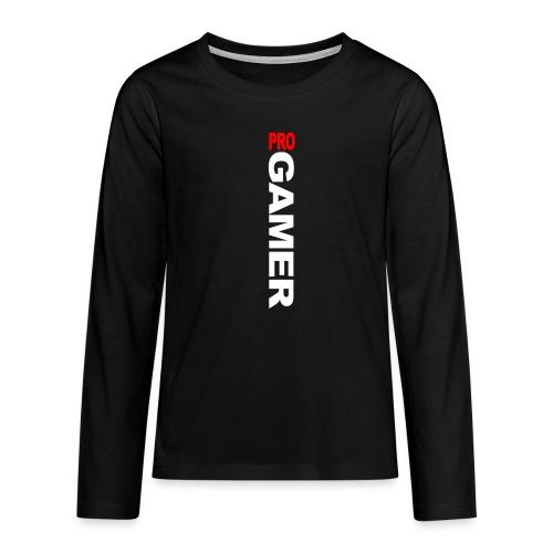 Pro Gamer (weiss) - Teenager Premium Langarmshirt