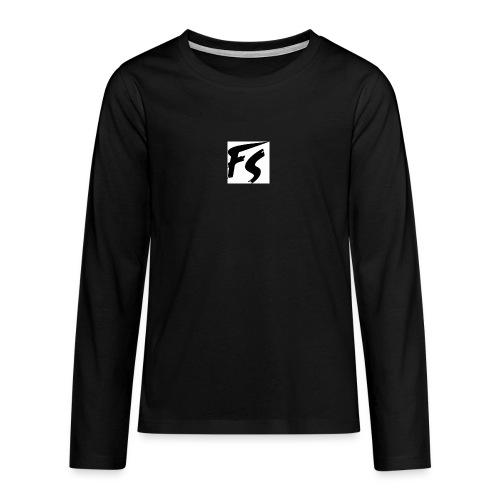 frituurstok logo FS - Teenager Premium shirt met lange mouwen