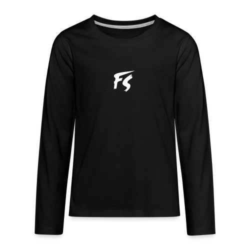 FS Logo wit - Teenager Premium shirt met lange mouwen
