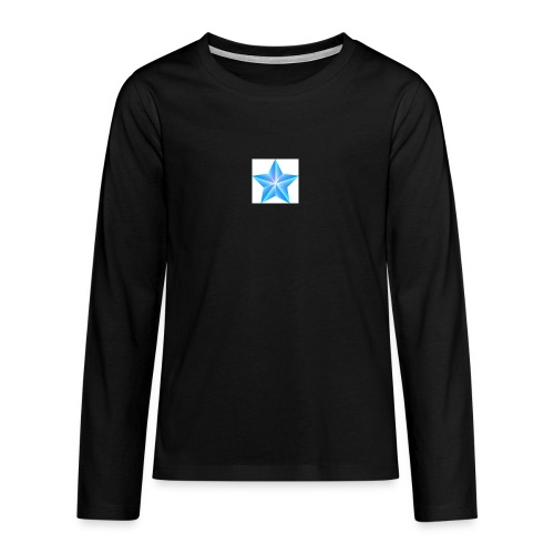 blue themed christmas star 0515 1012 0322 4634 SMU - Teenagers' Premium Longsleeve Shirt