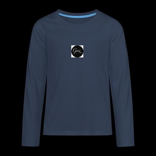 black/white texture - Teenagers' Premium Longsleeve Shirt