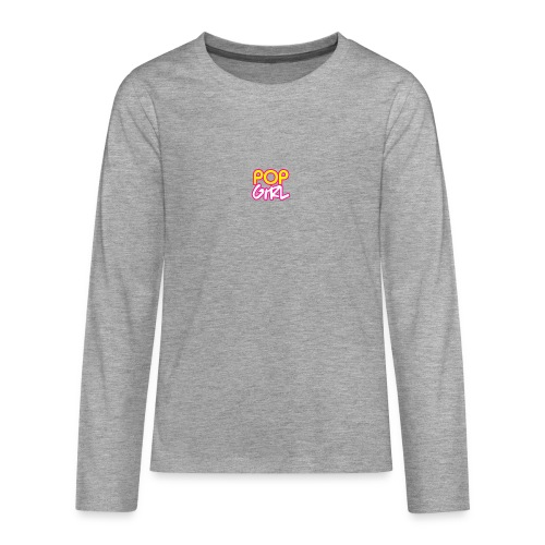 Pop Girl logo - Teenagers' Premium Longsleeve Shirt