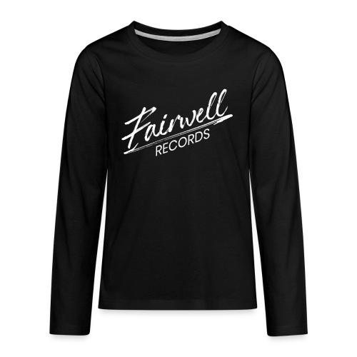 Fairwell Records - White Collection - Teenager premium T-shirt med lange ærmer