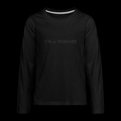 im a princess schwarz - Maglietta Premium a manica lunga per teenager